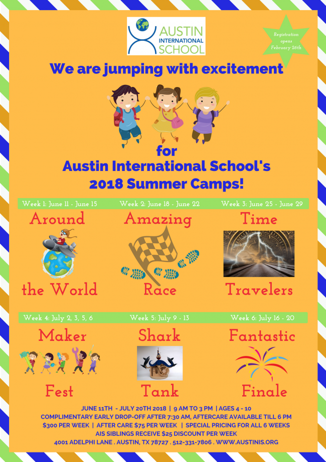 Austin International School Summer Camp | Kids Out and About Austin