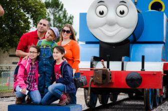 Day out with thomas kids out and about austin during day out with thomas families can take a ride on a real train pulled by their favorite tank engine thomas kids can also meet the head of the m4hsunfo