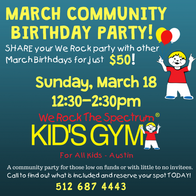 march community birthday party kids out and about austin