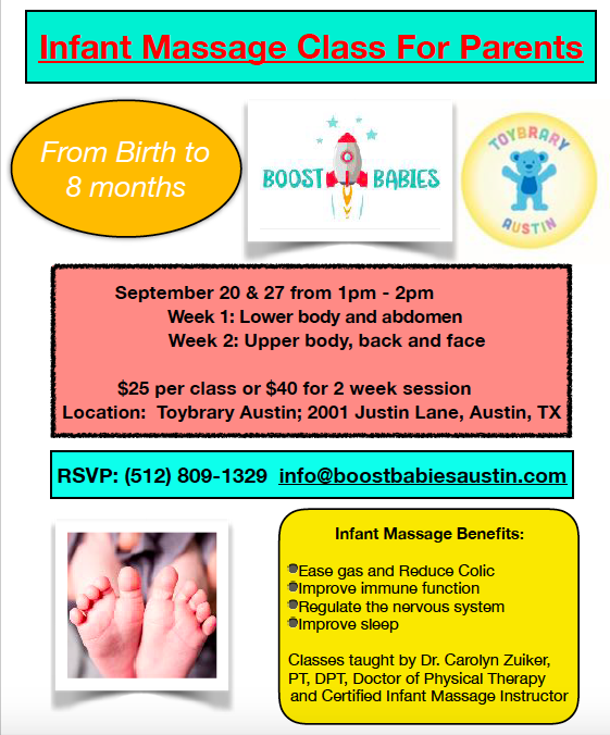 Infant Massage at Toybrary Austin | Kids Out and About Austin